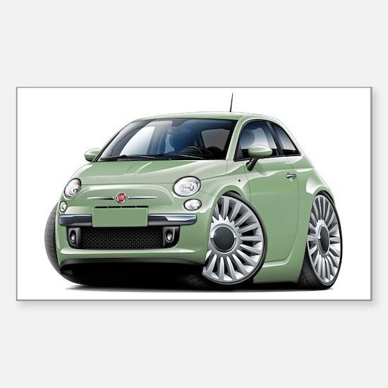 Fiat 500 Lt. Green Car Sticker (Rectangle)