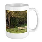 Bench In Forest Large Mug