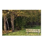 Bench In Forest Postcards (Package of 8)