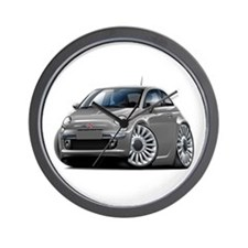 Fiat 500 Grey Car Wall Clock