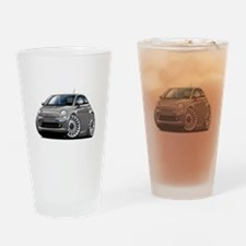 Fiat 500 Grey Car Drinking Glass