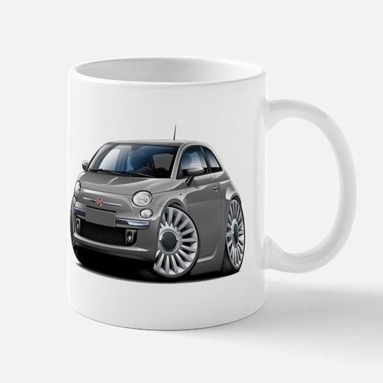 Fiat 500 Grey Car Mug