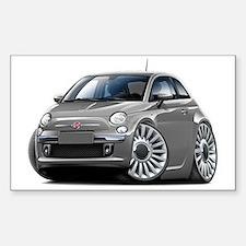 Fiat 500 Grey Car Decal