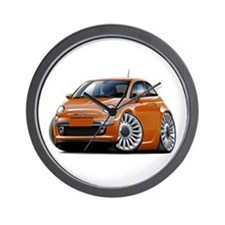 Fiat 500 Copper Car Wall Clock