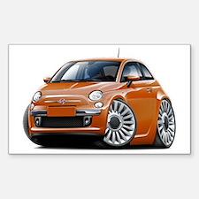 Fiat 500 Copper Car Sticker (Rectangle)