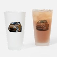 Fiat 500 Brown Car Drinking Glass