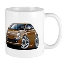 Fiat 500 Brown Car Mug