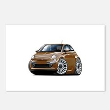 Fiat 500 Brown Car Postcards (Package of 8)