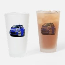 Fiat 500 Blue Car Drinking Glass