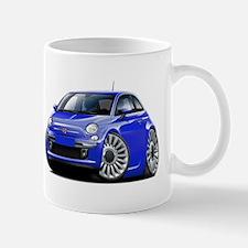 Fiat 500 Blue Car Mug