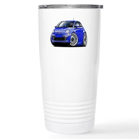 Fiat 500 Blue Car Stainless Steel Travel Mug