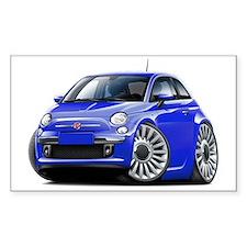 Fiat 500 Blue Car Decal