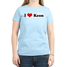 I Love Keon Women's Pink T-Shirt