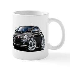 Fiat 500 Black Car Mug