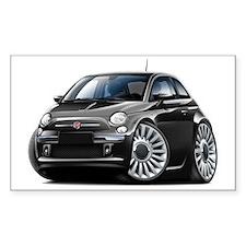 Fiat 500 Black Car Decal