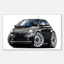 Fiat 500 Black Car Sticker (Rectangle)