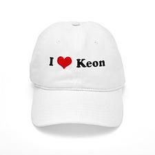 I Love Keon Baseball Cap