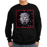 Winter or Christmas Poodle De Sweatshirt (dark)