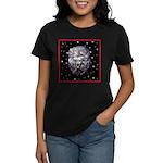 Winter or Christmas Poodle De Women's Dark T-Shirt