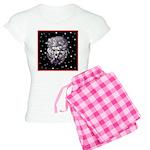 Winter or Christmas Poodle De Women's Light Pajama