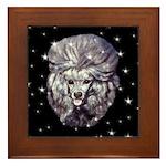 Winter or Christmas Poodle De Framed Tile