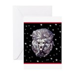 Winter or Christmas Poodle De Greeting Card