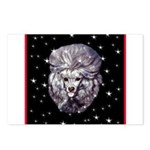 Winter or Christmas Poodle De Postcards (Package o