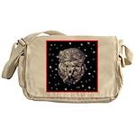 Winter or Christmas Poodle De Messenger Bag