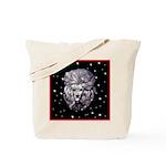 Winter or Christmas Poodle De Tote Bag