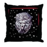 Winter or Christmas Poodle De Throw Pillow