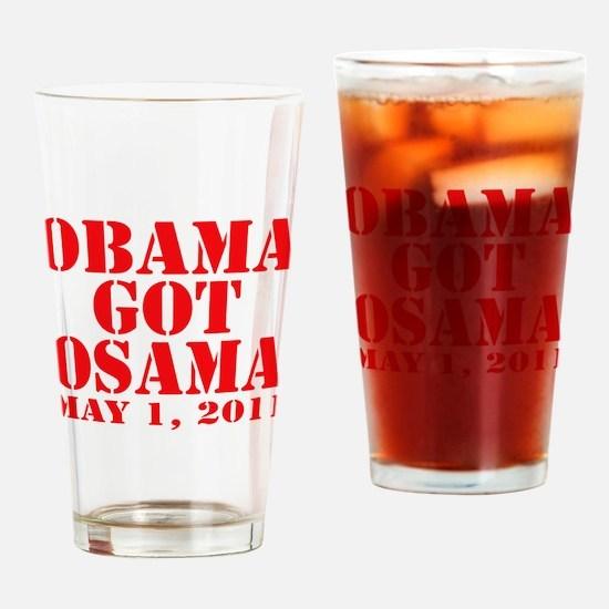 Obama got Osama Drinking Glass