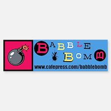 Babble Bomb Bumper Bumper Sticker
