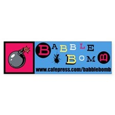 Babble Bomb Bumper Sticker