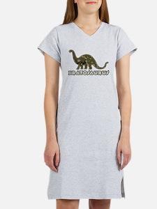 Brat Kid Camo Dinosaur Women's Nightshirt