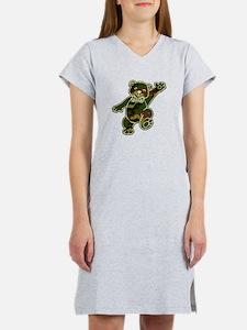 Camo Teddy Bear Women's Nightshirt