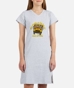 School Bus Kids Women's Nightshirt