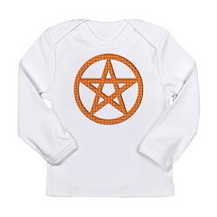 Pentagram Orange Gingham Long Sleeve Infant T-Shir