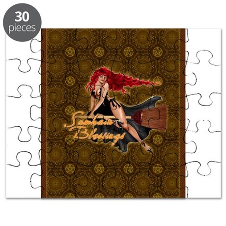 Samhain Blessings Witch Puzzle