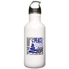 Christmas 1 Colon Cancer Water Bottle