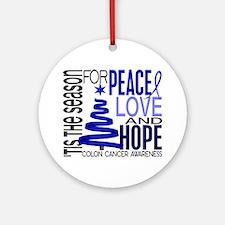 Christmas 1 Colon Cancer Ornament (Round)
