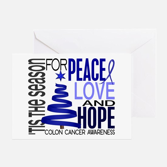 Christmas 1 Colon Cancer Greeting Card
