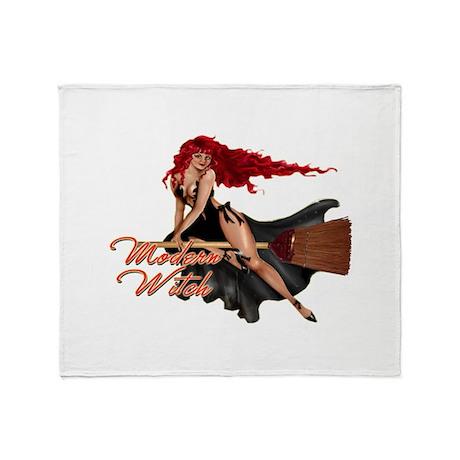 Sexy Modern Witch Throw Blanket