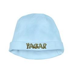 Gold Pagan Text baby hat