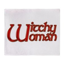 Witchy Woman Citrine Throw Blanket