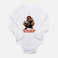 Pirate Wench Shiver me Timber Long Sleeve Infant B