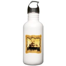 Pirate Ship Sailing the Sea Water Bottle