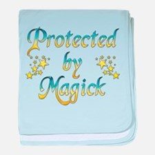Blue and Yellow Protected by baby blanket