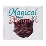 Magical Mama with Baby in Wom Throw Blanket