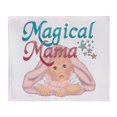 Magical Mama with Baby Throw Blanket