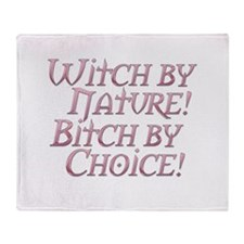 Pastel Witch by Nature design Throw Blanket
